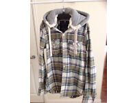 Superdry lumberjack checked shirt with detachable hood