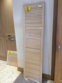 Louvre Doors Single Pine Open Vent Saloon Slatted Shutter