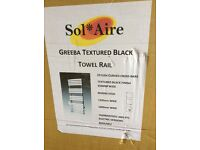 Vertical black towel rail