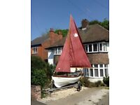 16ft Shetland sailing skiff in Lovely condition