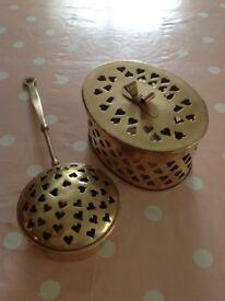 Brass Pot Pourri Pot & Inscense Burner