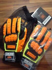 Crude work gloves mechanics and builders xxl new bargain.