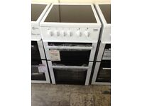 Beko 50cm white electric cooker. £239 new/graded 12 month Gtee