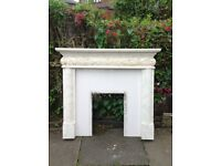 Plaster fire surround with hearth. Detailed painted.