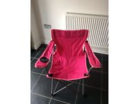 Folding pink camping chair