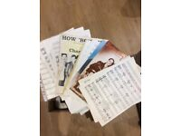 Complete box of sheet music-Great condition!