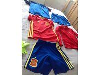 Bundle of kids football kits - fit age 7 or 8