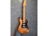 """Kay K-32, rare 70's vintage """"lawsuit"""" Str*t style electric guitar with retro strap. for sale  Corby, Northamptonshire"""