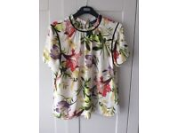 Marks and Spencer Ivory mix blouse - size 16