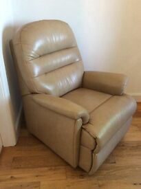 Two leather armchairs.