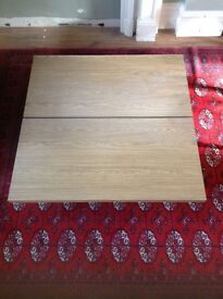 Lovely low modern light coffee table with storage