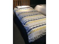 John Lewis single bed , hardly used , as new .