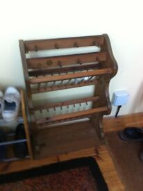 Pine Plate Rack with fixings