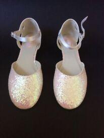 BNWB Cinderella By Pink Flower Girl/Children Ballerina Shoes Junior Size 11