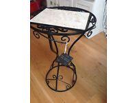Handmade by blacksmith wrought iron table