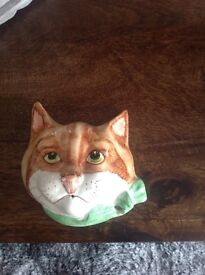 Antique cat ornament , string holder, ex condition, £20