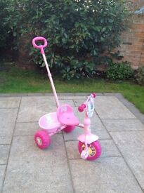 **Peppa Pig Trike** With Parent Handle