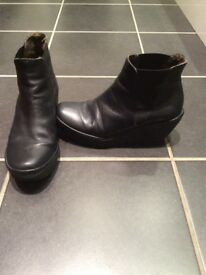Navy Fly London women's boots size 6