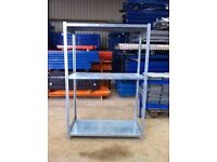 METAL 3 TIER WAREHOUSE GARAGE SHED SHOP SINGLE BAY RACKING SHELVING UNIT