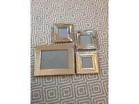 Set of 4 mirrored photo frames