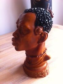 Fabulous carved African head