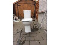 Wash hand basin plus wc pan