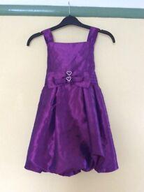 Girls purple party dress