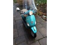 2013 Piaggio Vespa LX50 2T Turquoise Teal, MOT 1 Owner 3100km 50cc Scooter Moped LX50 Zip Fly NRG