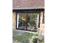 Very Large Patio Doors - UPVC Double Glazed - Keys and not old