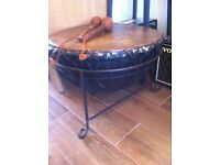 Africa real hide leather drum