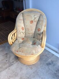 Conservatory/Garden Chair Rock/swivel with cushions