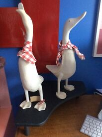 2 duck ornaments