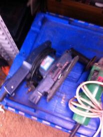 Electric sander , angle grinder , jig saw all together