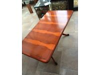 Coffee table and lamp table - yew, beautiful colour