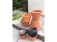 Terracotta Planters and Hanging Baskets