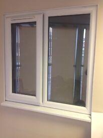 White UPVC double glazed window 1030mm x 1030mm