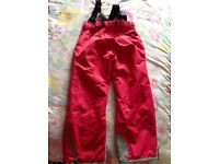 Girls salopettes/board trousers, 9-10yrs