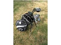 Full set men's clubs + bag.
