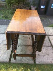Vintage Drop Leaf Kitchen Dining Table with Gate Legs