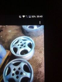Porsche cup alloys 4 off set staggered 968 944 T5 Bay Vw t 25