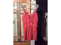 DKNY ladies summer playsuit UK size12 Pink