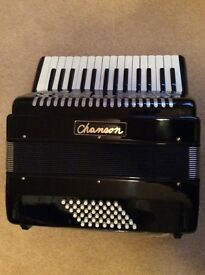 Chanson 48 Bass Piano Accordion. Black. New. Never used.