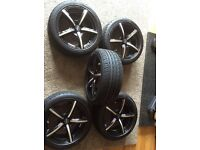 5 x 100 Fox Alloys 7 X 16 with new tyres 205/45/ZR16 5 stud.