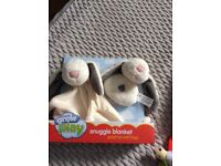 Snuggle blanket and rattle