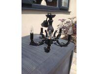 Black 5 light chandelier