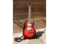 Les Paul style guitar by Hohner. Tobacco sunburst