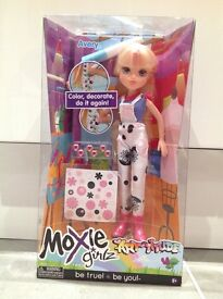 Moxie Girlz Art titude doll. Brand new. Decorate your doll.