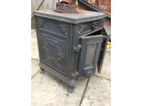 Charming characterful An tique French woodburner