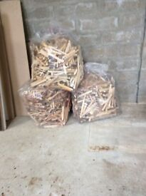 Large bags of dry Kindlers from joinery off cuts