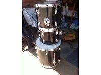 Drum Kit Black and Chrome.